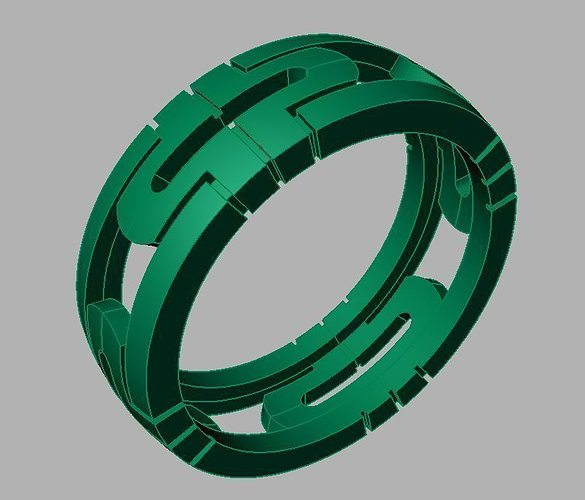Ring R8 3D Model 3D printable OBJ STL 3DM | CGTrader.com