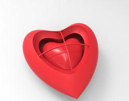 Heart Heart earring 3D Model