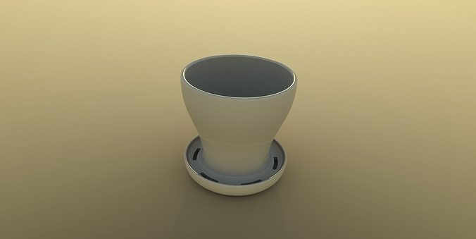 flower pot 3d model free