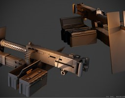 50 Cal Machinegun 3D model