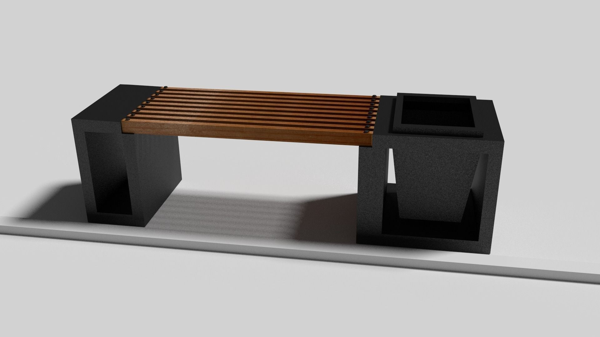 . Modern Bench   3D model