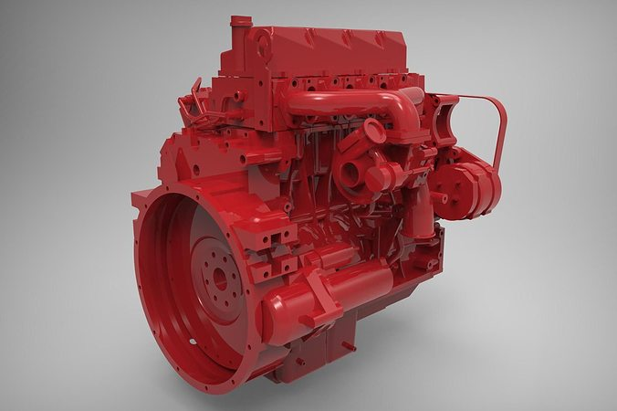 engine cummins isf 3 3d model max fbx stl stp 1