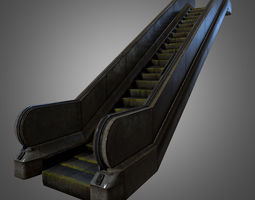 Escalator 3D asset