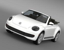 vw beetle tdi cabrio 2014 3d