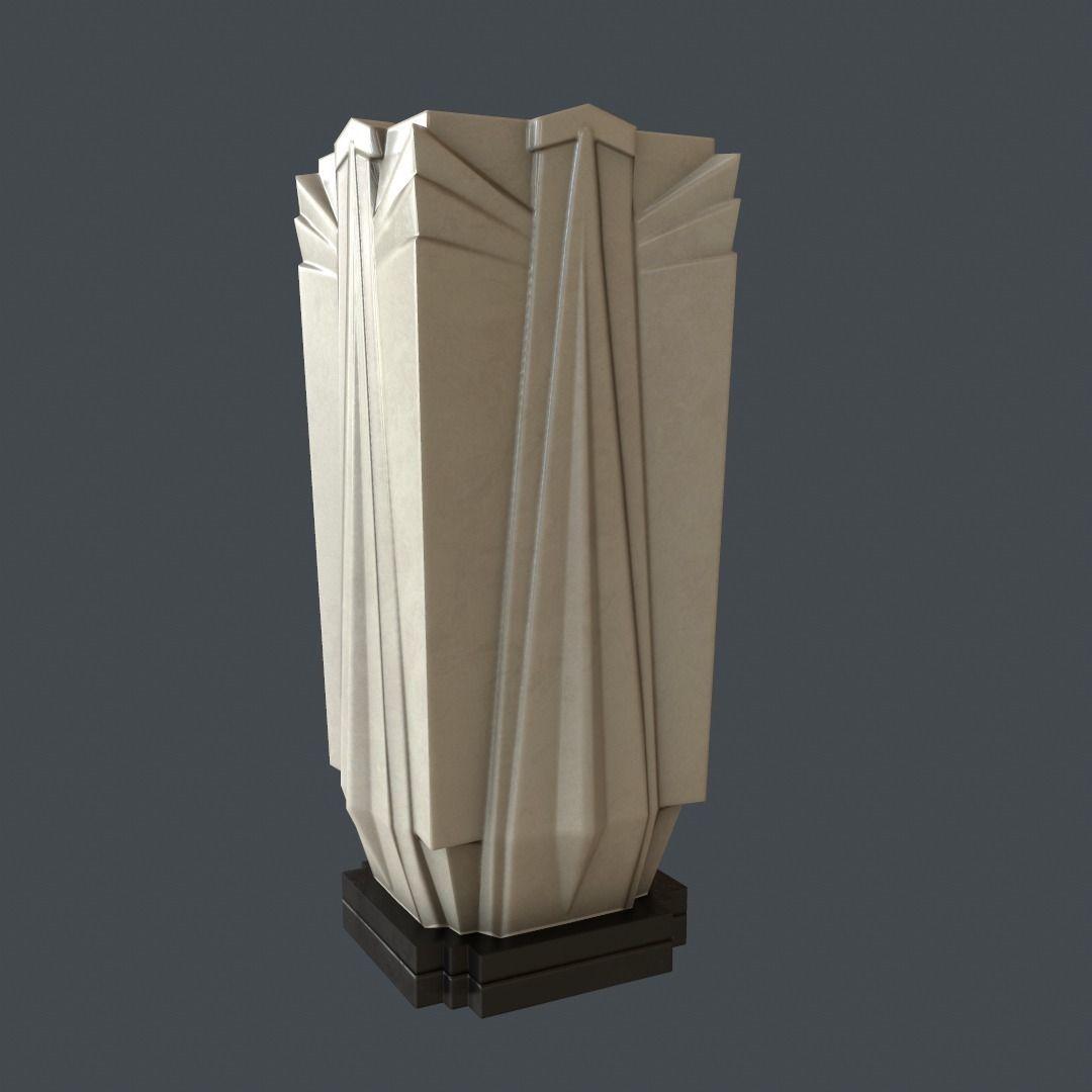 3d model art deco vase game ready vr ar low poly obj ma mb tga. Black Bedroom Furniture Sets. Home Design Ideas
