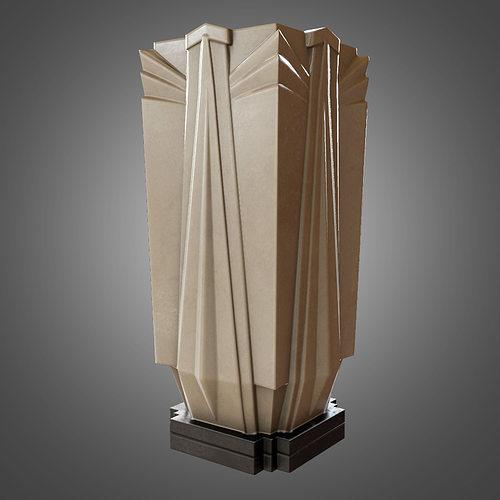 Art Deco Vase Game Ready 3d Asset Cgtrader