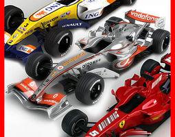 2007 F1 McLaren - Ferrari - Renault Pack 3D Model