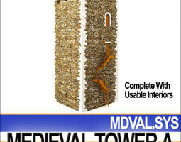 medieval tower a 3d model
