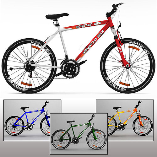 mountain bike mtb 3d model max obj mtl 3ds fbx 1