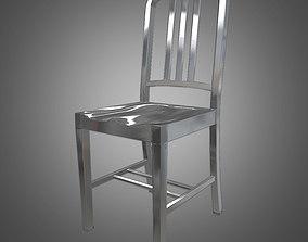 3D model Navy Metal Chair