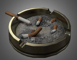 3D asset Art Deco Ashtray