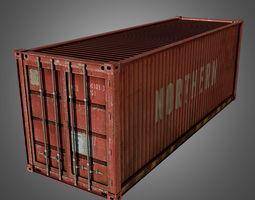 Cargo Container Conex 3D asset