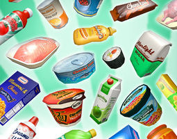 3D model Supermarket Gluttony Pack