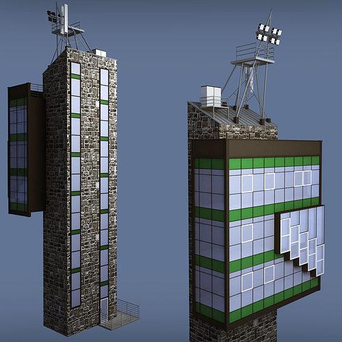 3D Industrial Glass Light Tower
