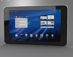 lg optimus pad 3d model low-poly