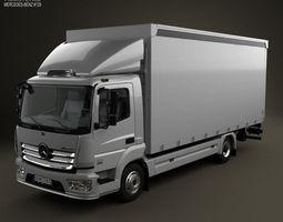 mercedes-benz atego box truck 2013 3d model max obj 3ds fbx c4d lwo lw lws
