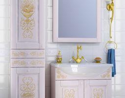 3D model Rokoko bathroom furniture set