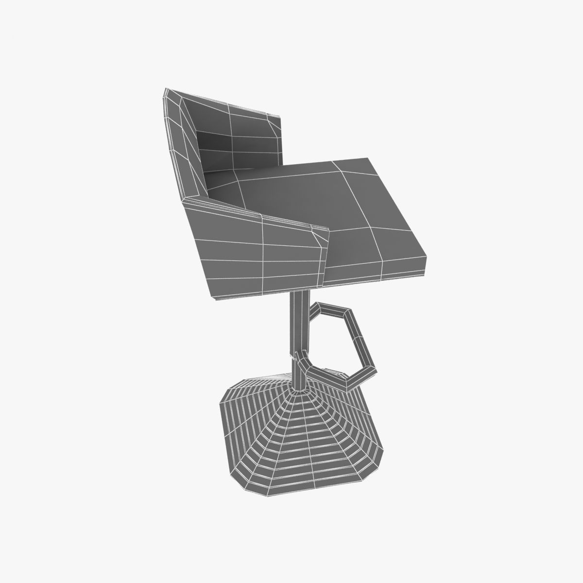 Tom Dixon Pivot Barstool 3d Model Cgtrader # Muebles Tom Mobel