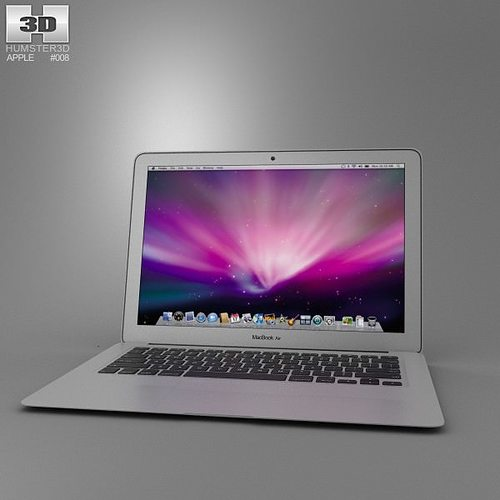 apple macbook air 13 inch 2012 3d model low-poly max obj 3ds fbx c4d lwo lw lws 1