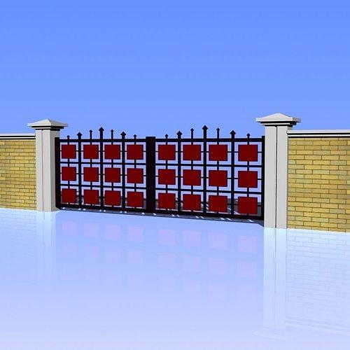 fence and gate 02 3d model max obj mtl 3ds fbx lwo lw lws 1