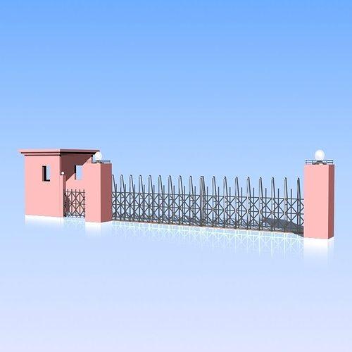 fence and gate 05 3d model max obj mtl 3ds fbx lwo lw lws 1