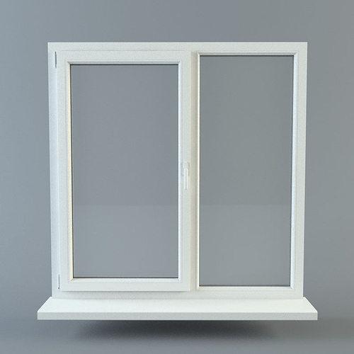 window 3d model obj fbx ma mb 1