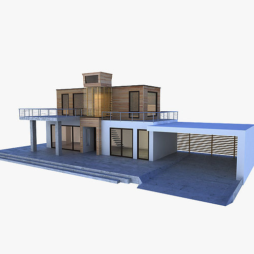 Modern house 3d model fbx ma mb for New model contemporary house