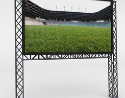 Telebim LED video scaffolding 3D
