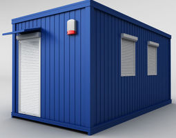 3D model Container shipping house