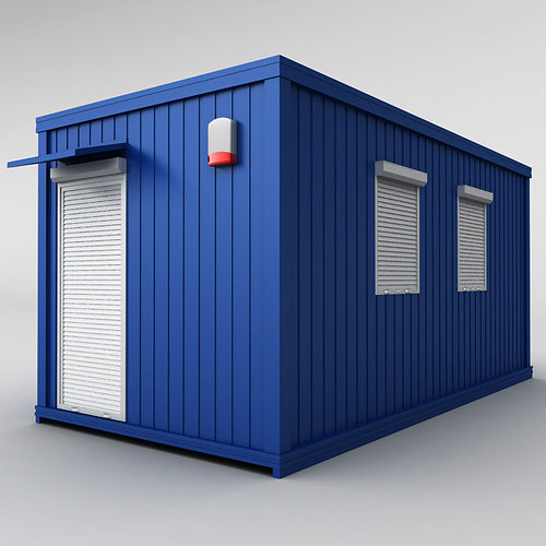 container shipping house 3d model max obj 3ds fbx mtl 1