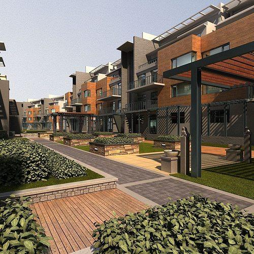 3d Model House Building Residential: House Multi Residential Building 3D Model