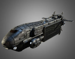 Sci-Fi Transport Ship 3D Model
