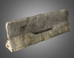 Concrete Jersey Barrier 3D model