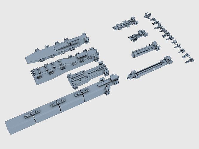 low-poly armada 3d model low-poly max obj fbx c4d ma mb mtl 1