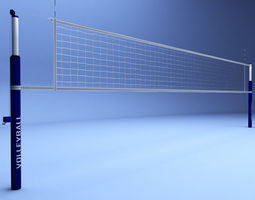 realtime volleyball net low poly 3d model
