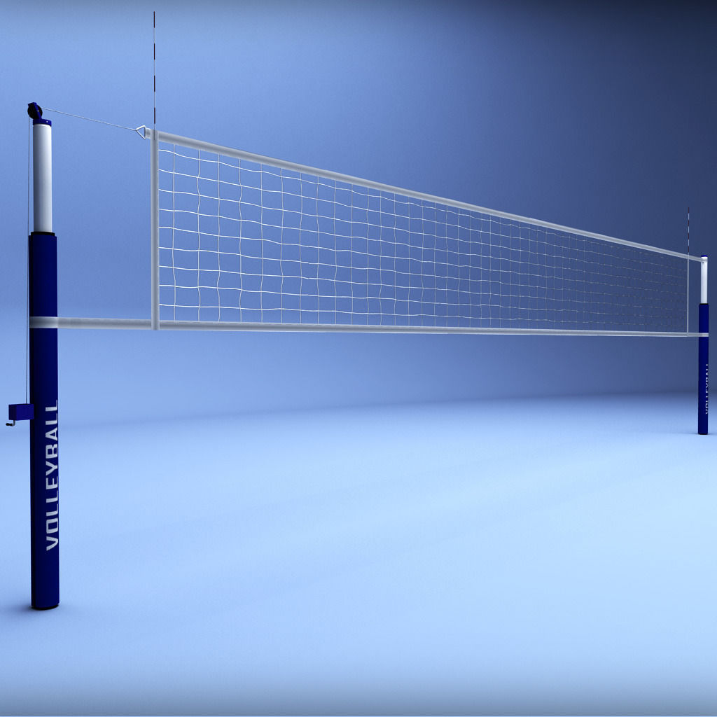 3d Model Volleyball Net Low Poly Vr Ar Low Poly Max