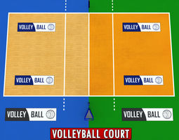 volleyball court low detail low poly 3d model low-poly max obj 3ds fbx mtl