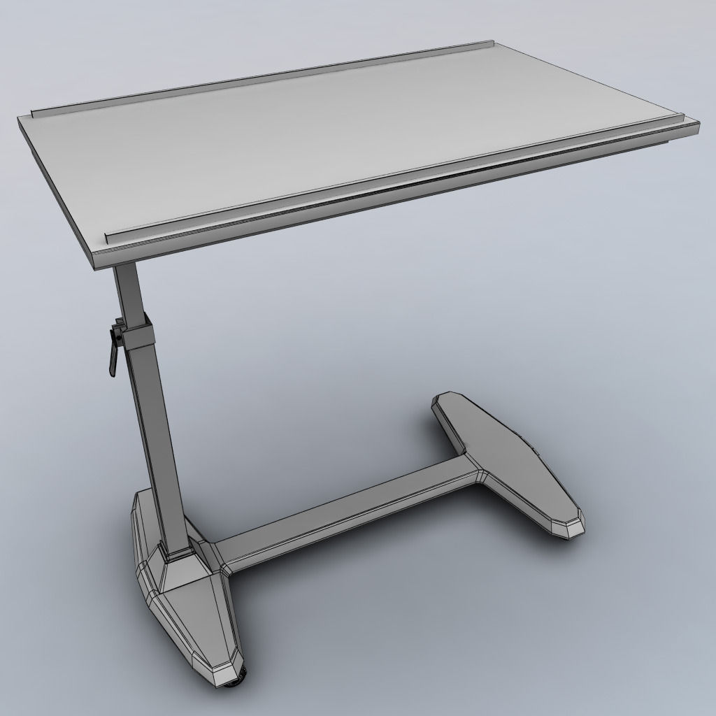 Over bed table 3D model