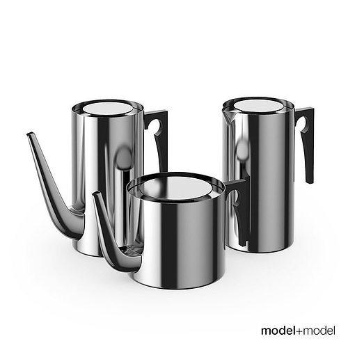 stelton aj coffee pots 3d model max obj mtl fbx mat 1
