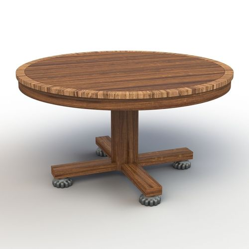 Roung dining table 3d model cgtrader for Dining table models
