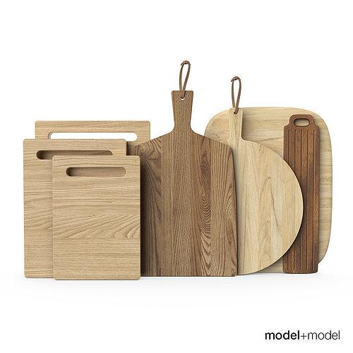 wooden chopping boards 3d model max obj fbx 1