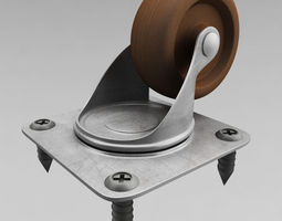 cabinet wheel 3d