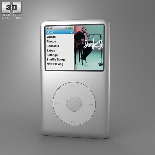 apple ipod classic 3d model low-poly max obj mtl 3ds fbx c4d lwo lw lws 1