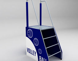 referee stand volleyball low poly 3d model low-poly max obj 3ds fbx mtl
