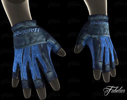 weight lifting gloves 2 3d model low-poly