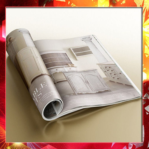 magazine 02 3d model max obj mtl 3ds fbx mat 1