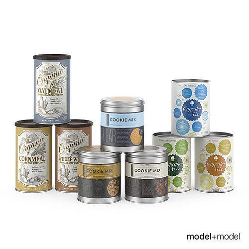 baking mix cans 3d model max obj mtl fbx mat 1