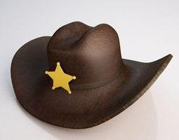 star Cowboy Hat 3D