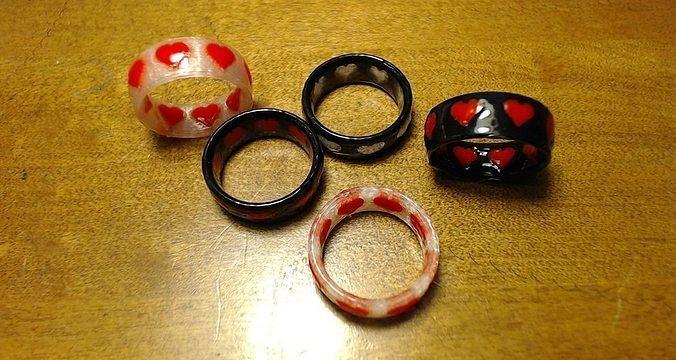 dual-color heart ring 3d model stl 1