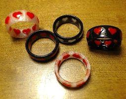 Dual-Color Heart Ring 3D Model